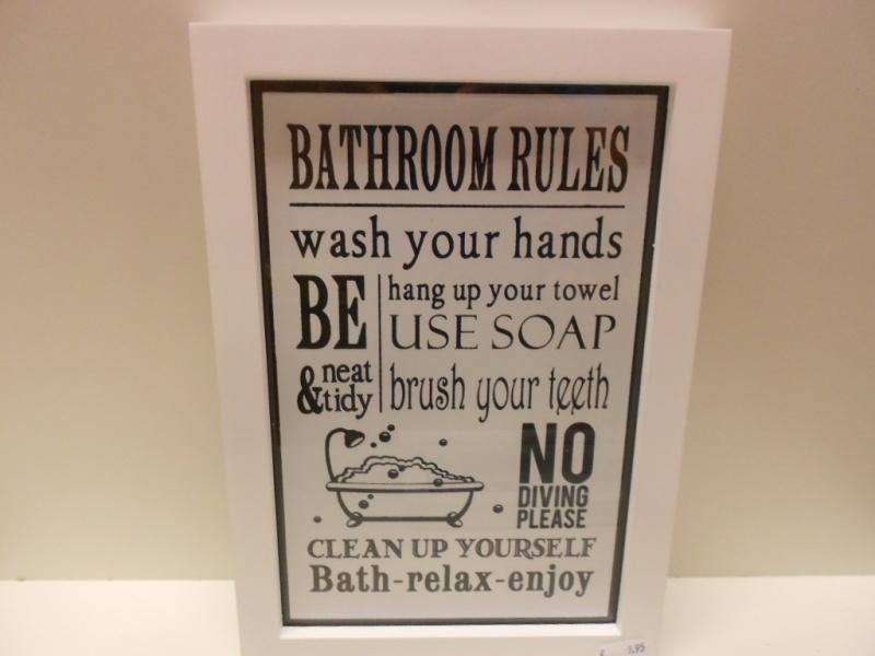 Badkamer regels (breedte 19 cm Lengte 29 cm)