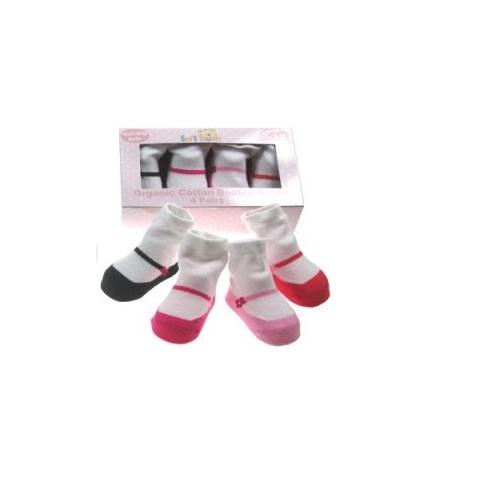 Sokjes in doosje ( 4 paar)