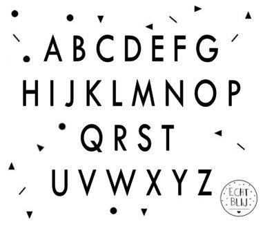 Plakletters Alfabet 5cm (per 10 letters)
