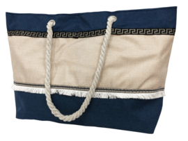 Strandtas - Jute donkerblauw