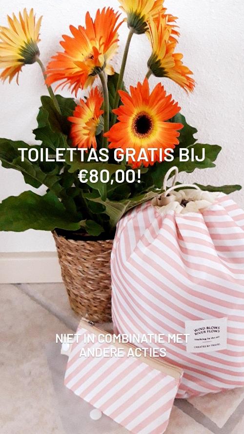 Gratis toilettas bij €80,00