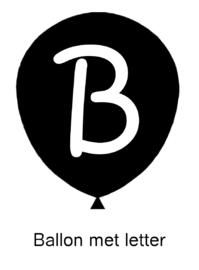 Ballon met letter