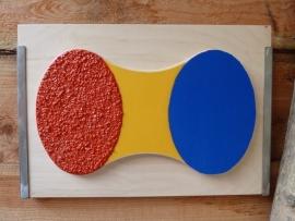 Reliëf- kleurenplaat voor buiten