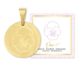 Birth flower februari goud, Viooltje