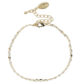 One Day armband geel goud/wit