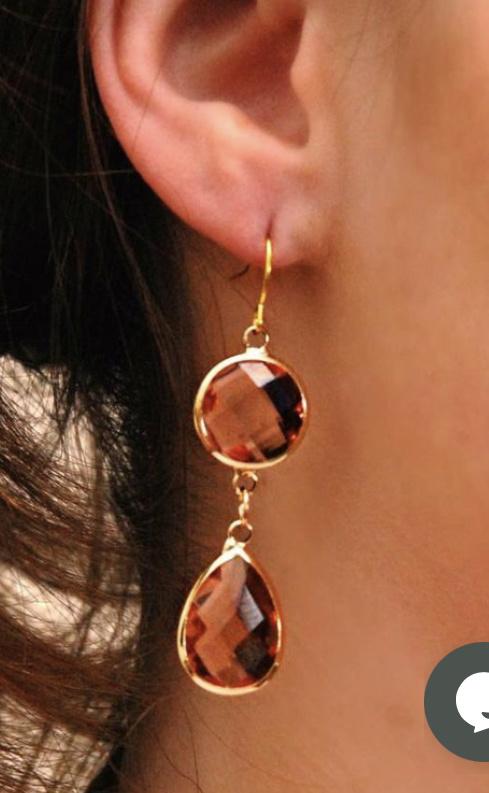 Oorbel Dare to be fabulous chandelier Copper