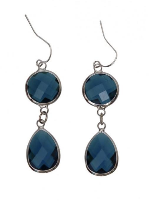 Oorbel Dare to be fabulous chandelier Smaragd