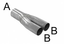 Y buis 2inch 50.8mm-1 3/4 inch 44.5mm SPGK-U905145R