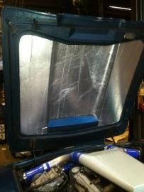 Reflecterend hitte schild zelfklevend 1000mm x 500mm