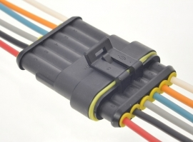 Superseal connector set 6 polig