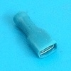 Female terminal geisoleerd blauw 6.4x0.8mm