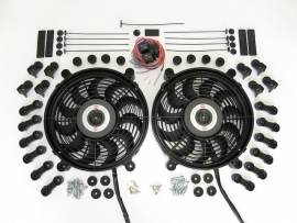 High performance dubbele 12V fans - complete kit