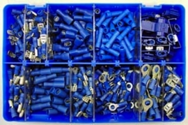 Kabel terminal assortiment kit geisoleerd blauw