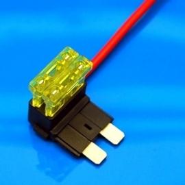 Extra zekeringhouder bestaand circuit 1.5mm2