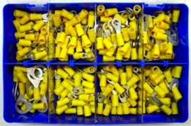 Kabel terminal assortiment kit geisoleerd geel