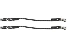 Harry's Horse Trailertouw elastisch zwart/wit