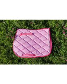 HB Sparkling glitter zadeldekje shetland Pink