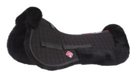 LeMieux Pro Lambskin Half pad Black/Black