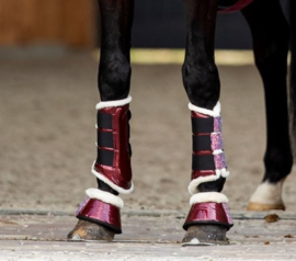 HB Show-time Gold Rush Glitter Trainingsboots Burgundy