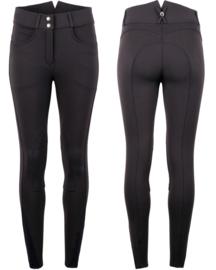 Montar rijbroek Essential Yati Highwaist vol 2 - Navy, Fabric knee