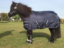 Harry and Hector Pony Outdoor waterdichte regendeken Blauw Fleece