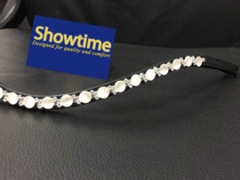 HB Showtime Frontriem White Opaal Round