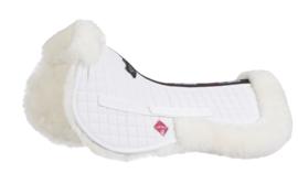 LeMieux Pro Lambskin Half pad White/White Dressuur