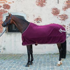 "Fleece deken ""Classical"" Lamicell Bordeaux"