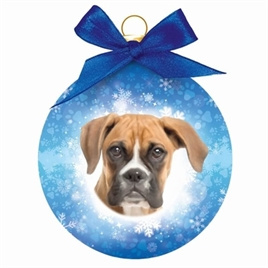 Kerstbal rond Boxer