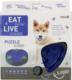 Slow bowl & puzzle blauw
