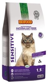 Biofood kat Sensitive 1,5kg (coat/stomach)