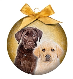 Kerstbal labrador pups