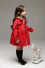 Rode Trenchcoat voor Meisjes