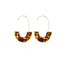 Trendy Ovale Oorbellen / Oorringen Luipaard Print