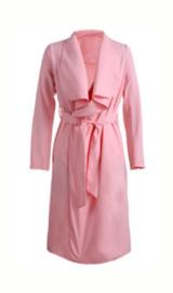 Maxi Pastel Roze Trenchcoat
