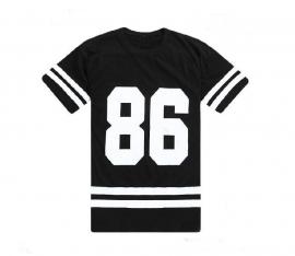 Oversized T-shirt / Top met opdruk 86