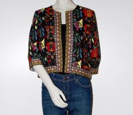 Vintage Blazer met geborduurde print