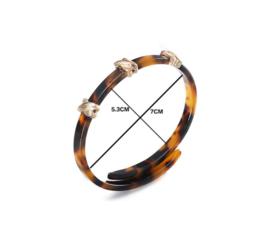 Prachtige, Elegante Armband met Luipaard Design