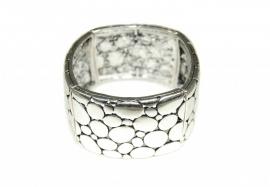 Zilverkleurige Armband Stone