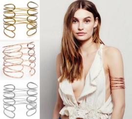Eenvoudige Sierlijke Bovenarmband Rose Goudkleurig