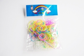 Loom Bandjes Glow in the Dark Glitters