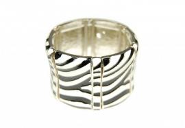 Brede Armband met Zebra Patroon