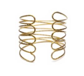 Eenvoudige Sierlijke Bovenarmband Goudkleurig