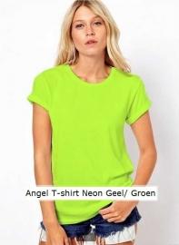T-shirt Angel Neon Geel/ Groen