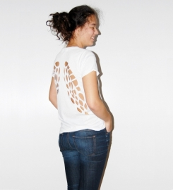 T-shirt Angel Creme Wit