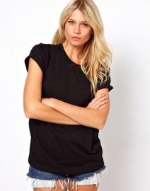 T-shirt Angel Zwart