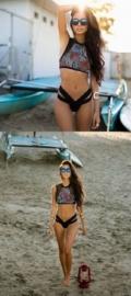 Vintage Bikini met Bloemenprint