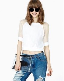 Crop Top met Kant