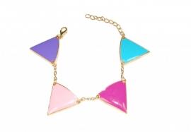 Armband met Gekleurde Driehoekjes