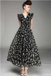 Lange jurk Cerise